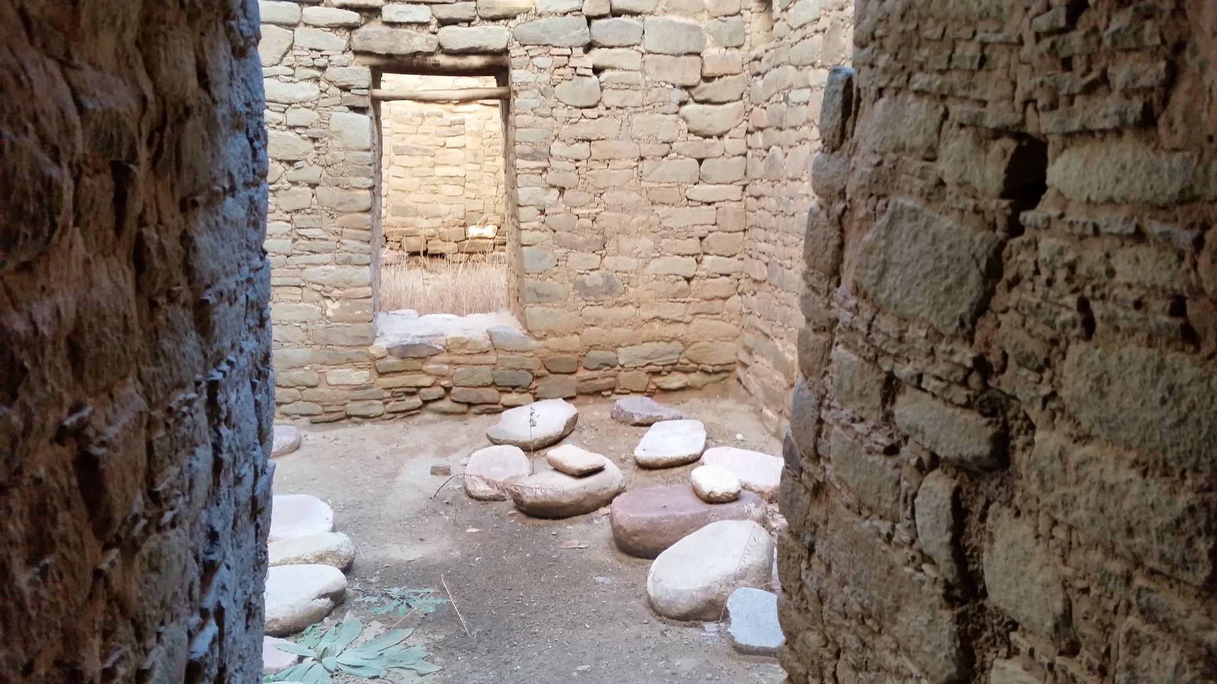 Interior courtyard. Aztec Ruins, Aztec NM
