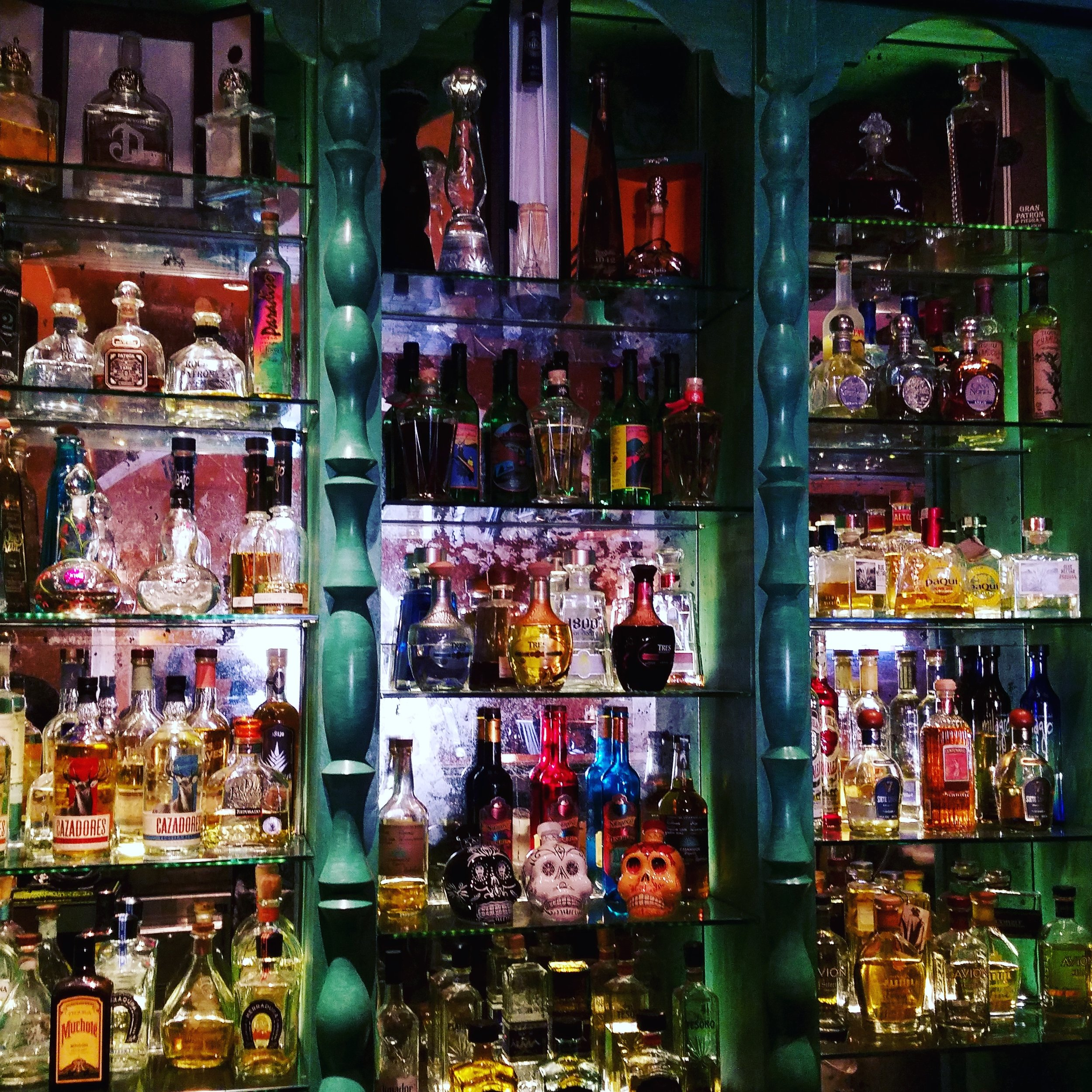 Behind the bar at Garduno's in Old Town Albuquerque