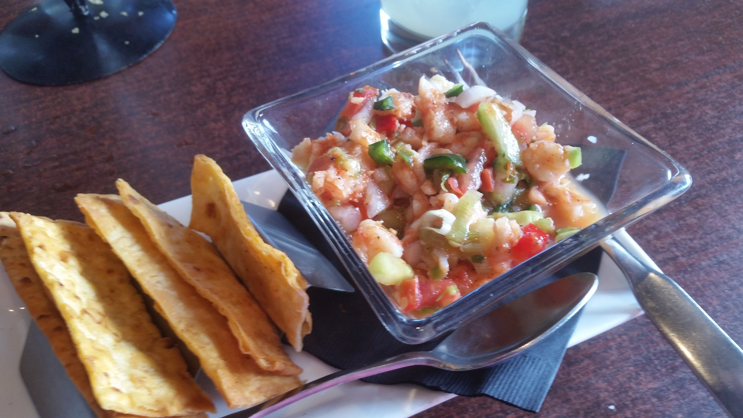 Ceviche at Zacatecas in Albuquerque