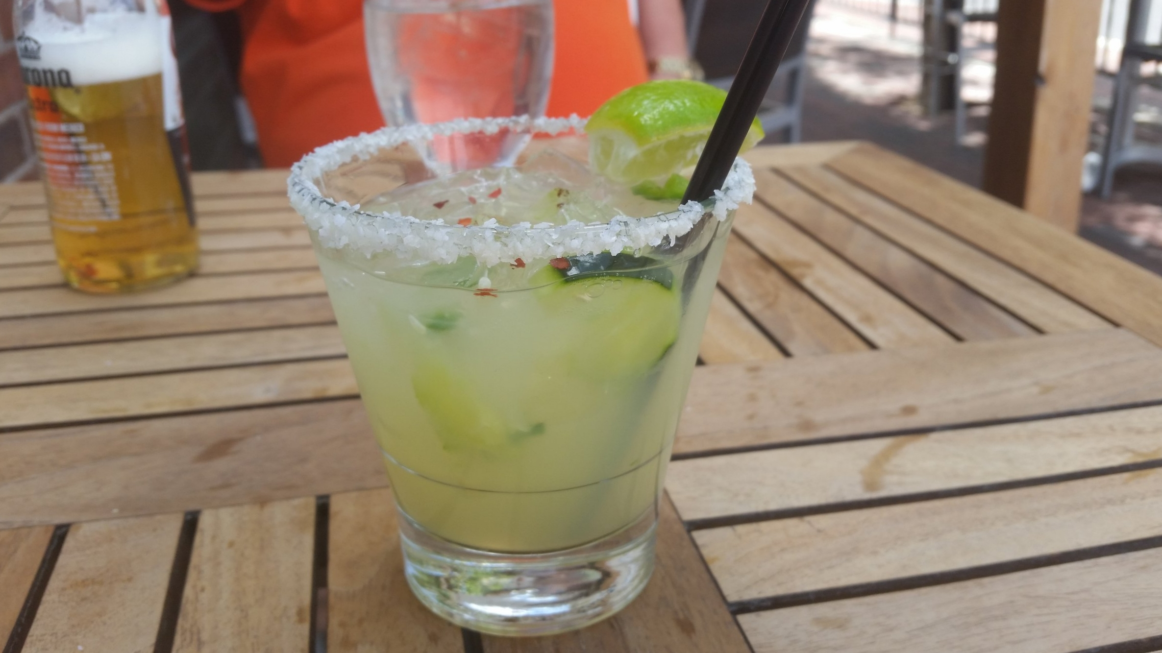Cucumber and jalapeno margarita