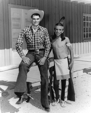 Dave Saunders and Troy Vincente as Red Ryder and Little Beaver
