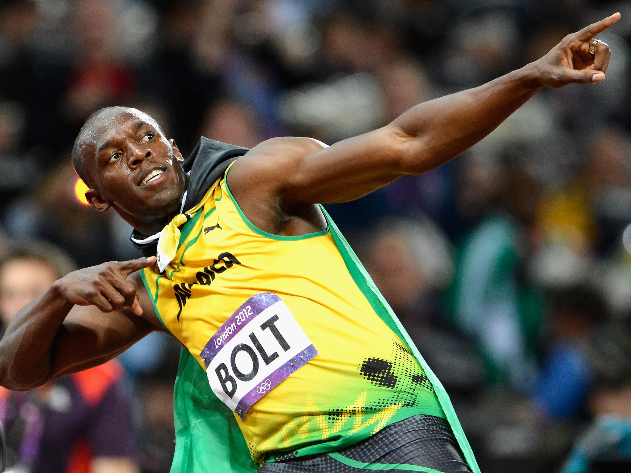 Usain Bolt, corredor de velocidad.