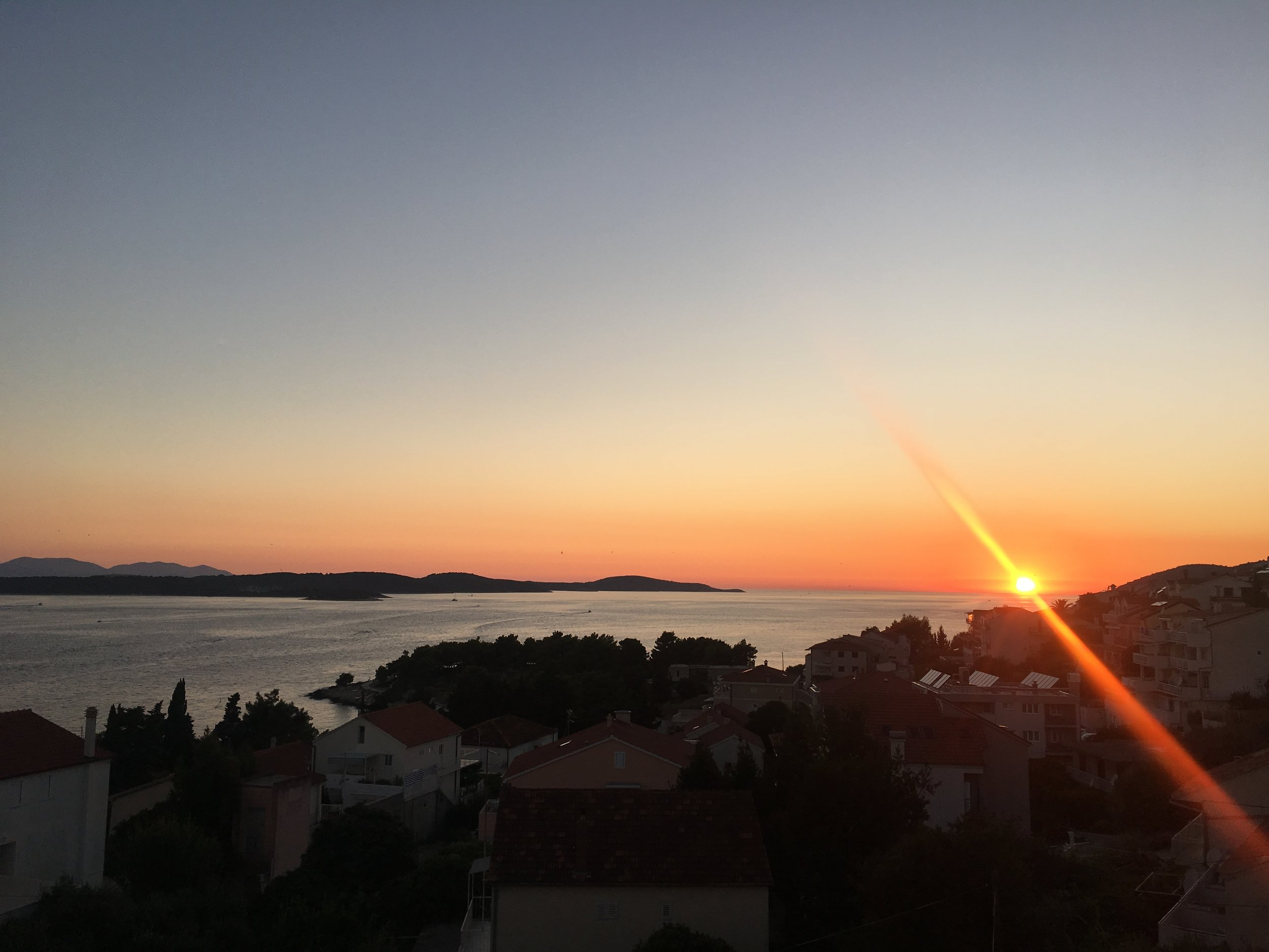 Hvar Sunset (View from the balcony)