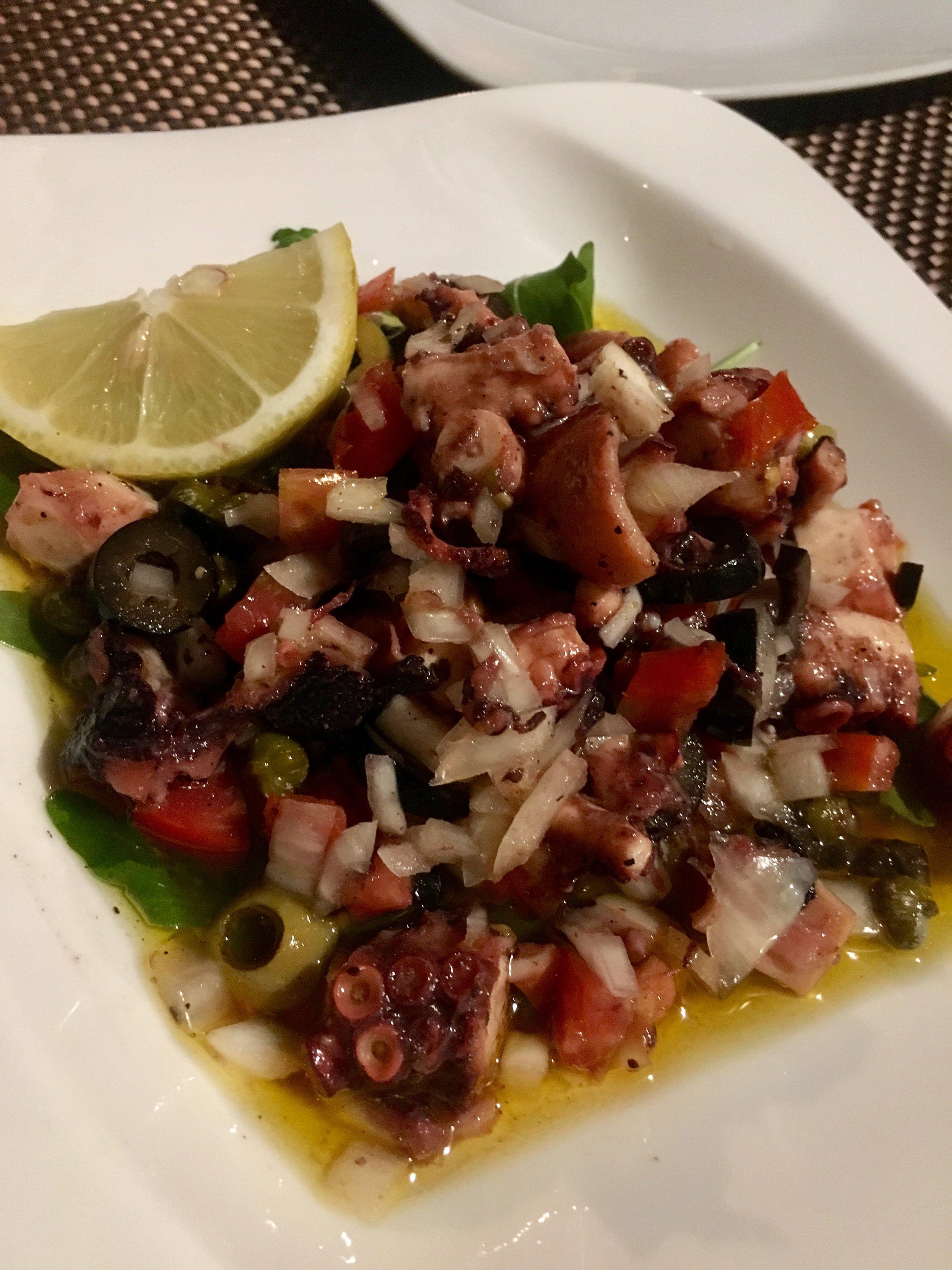 Octopus Salad at Konoba Luviji