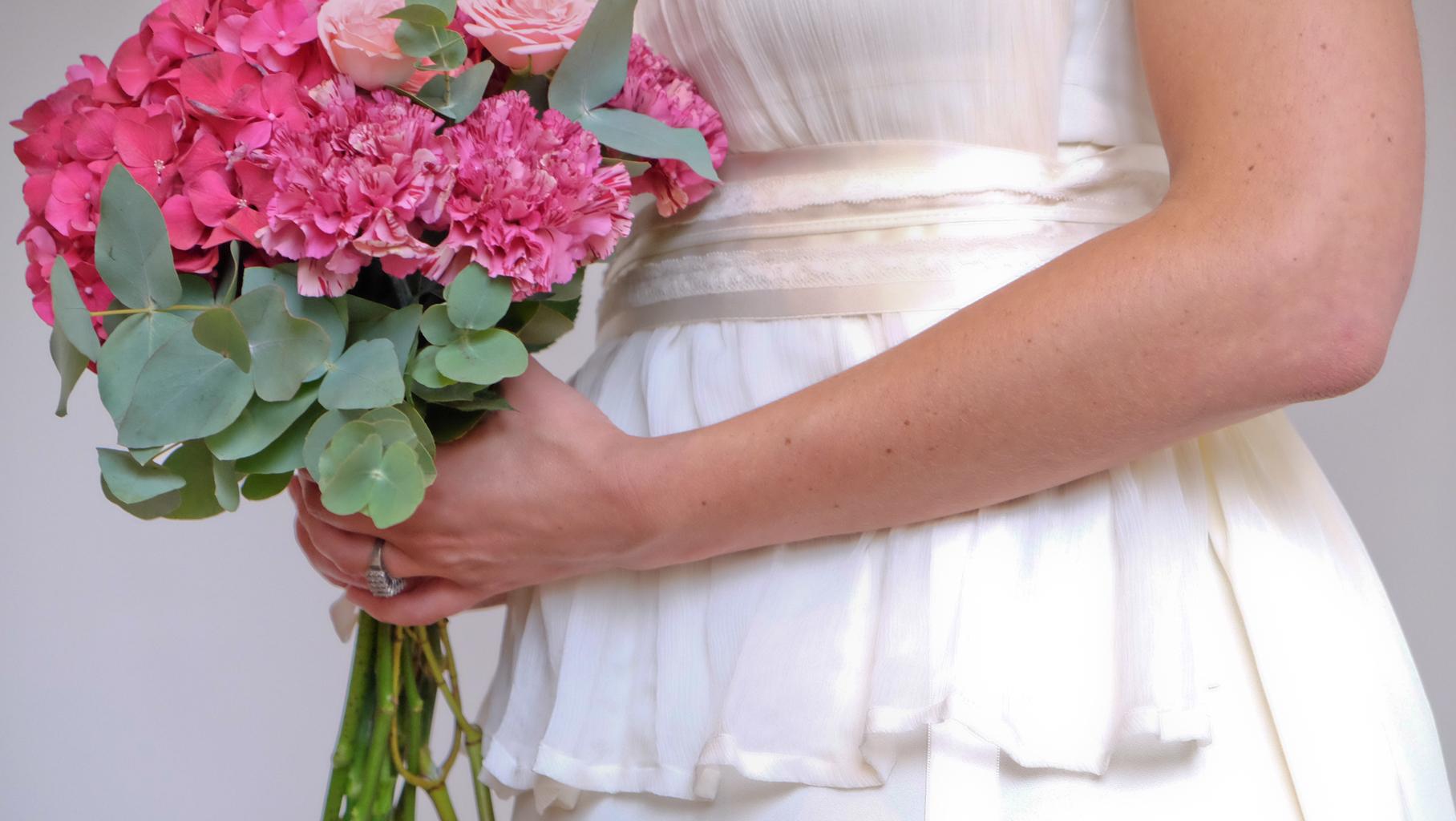 Lucie Fouquet robe Jessica corsage amovible mousseline de soie ceinture satin application dentelle