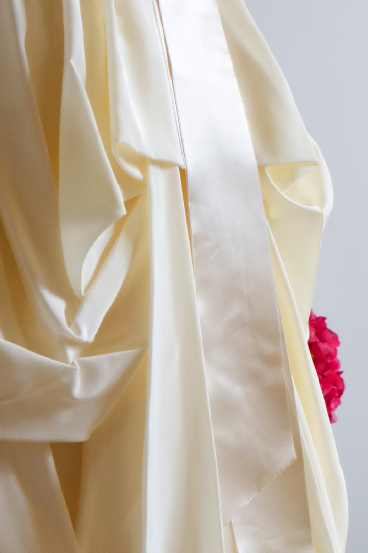 Lucie Fouquet robe Jessica traine amovible taffetas à mémoire de forme