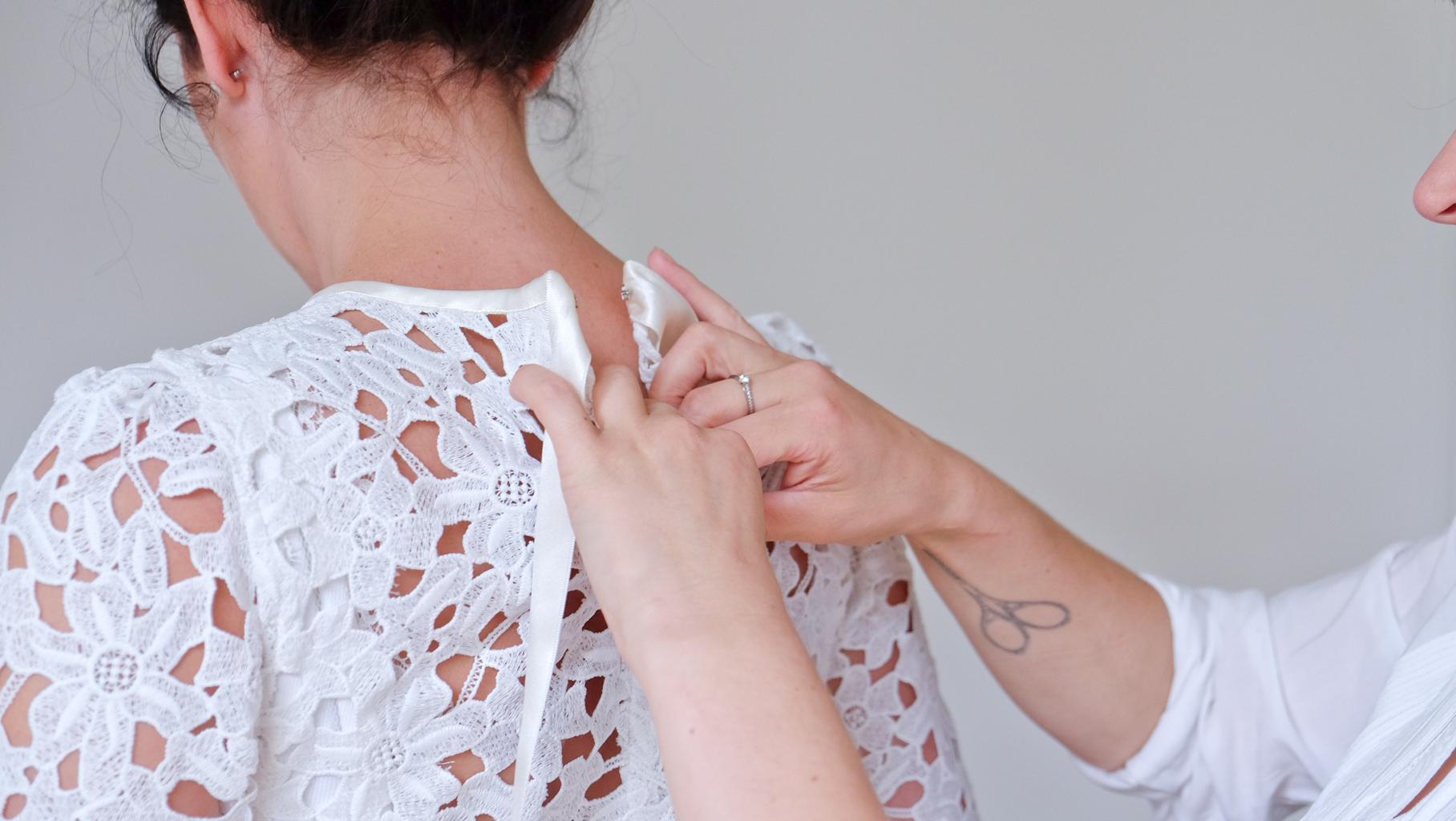 Lucie Fouquet cardigan Nadège en guipure de coton