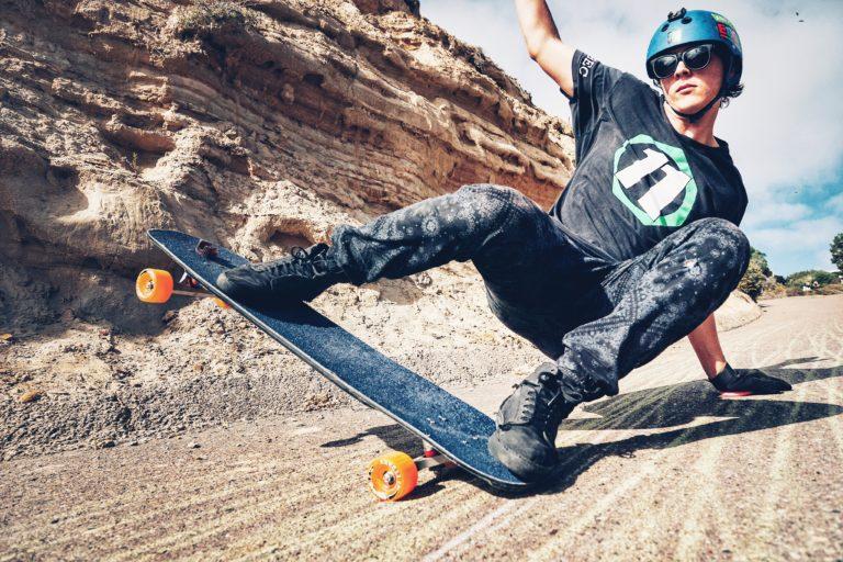 Brandon shredding down a hill near Black's Beach, San Diego:  Lamin Cassama