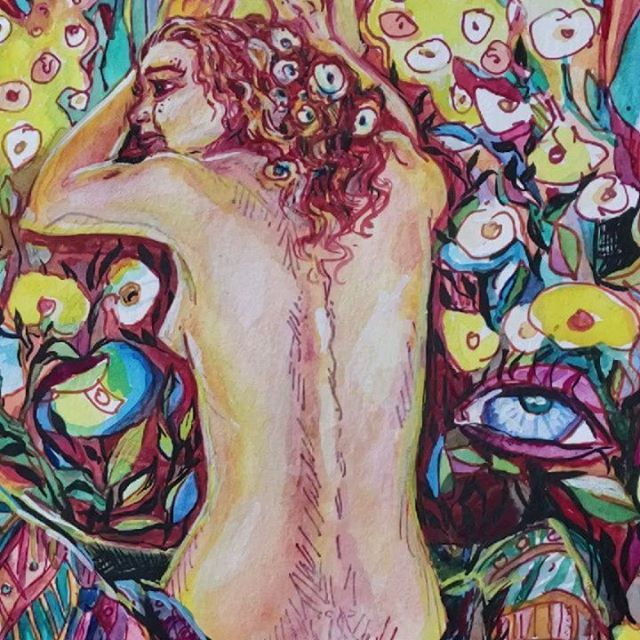 Art insires life. This piece is the inspiration for the dress I'm live painting @tiger_lily_dress_shop GRAND OPENING 2-6 today. Stop by for some beauty and fun.