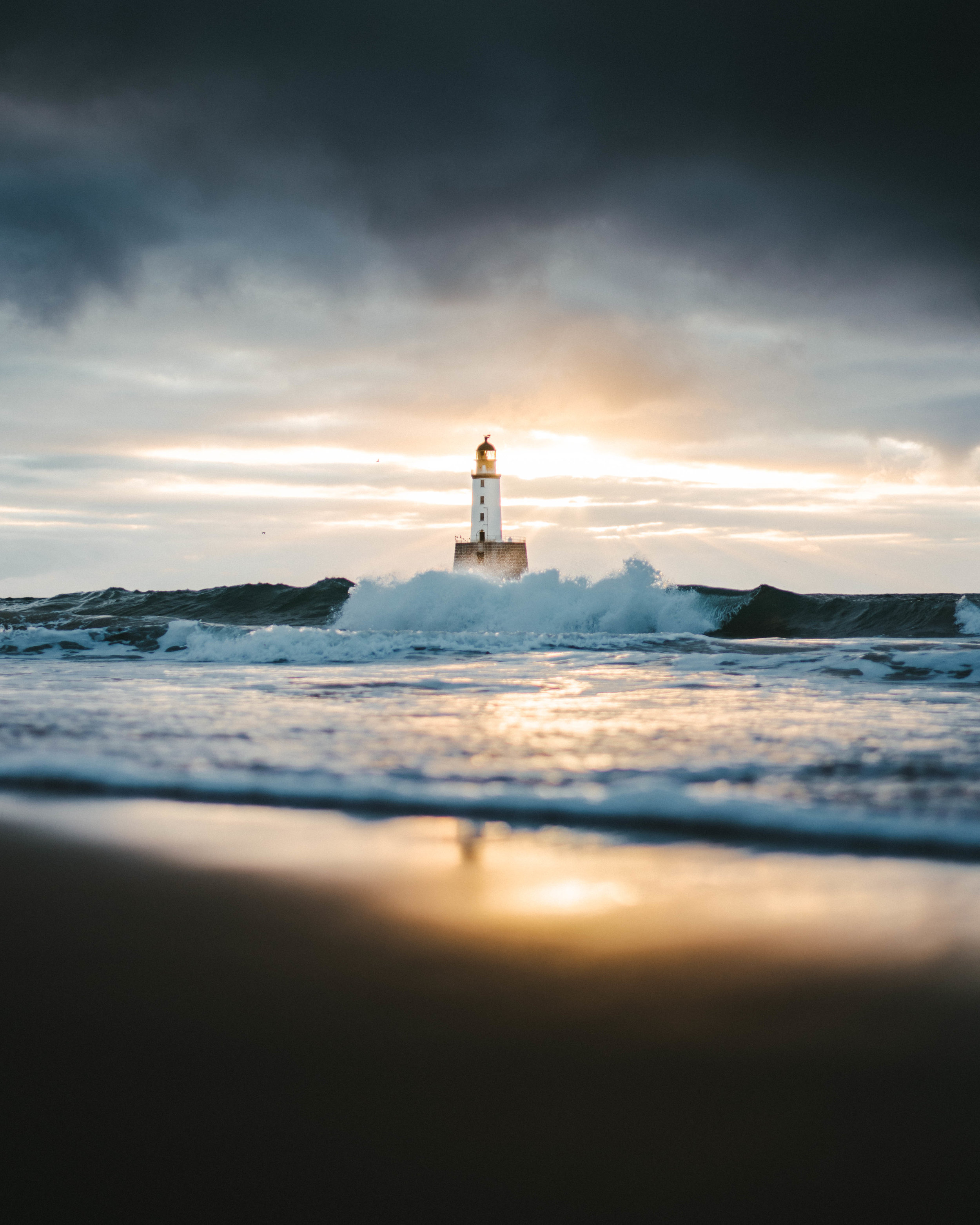 Rattray Head Lighthouse, our first shooting location! Photo Jack Harding