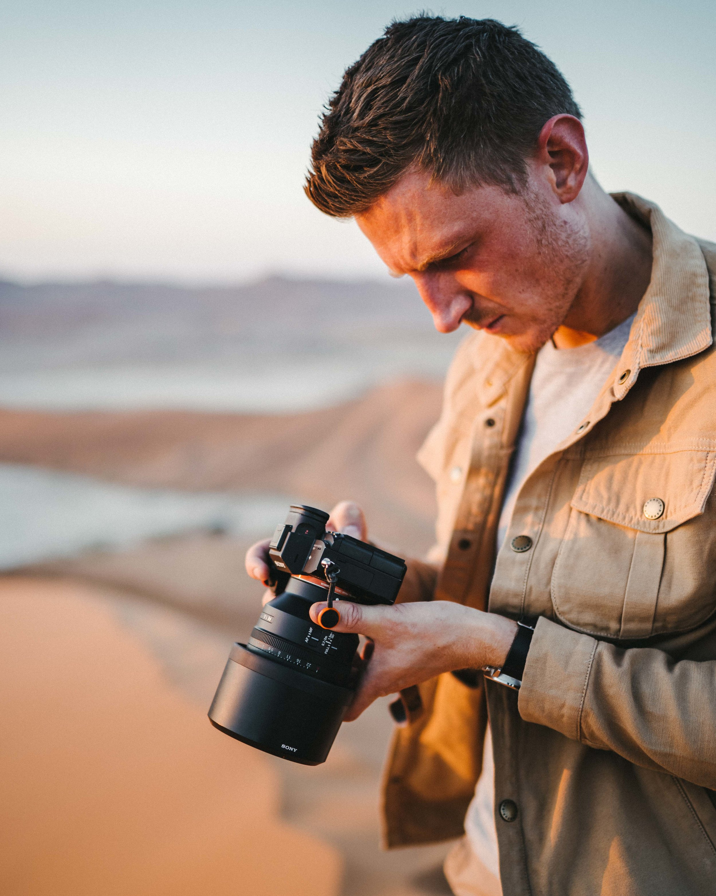 Sossusvlei, Namibia. Jack using the Sony A7Riii with 135 GM.