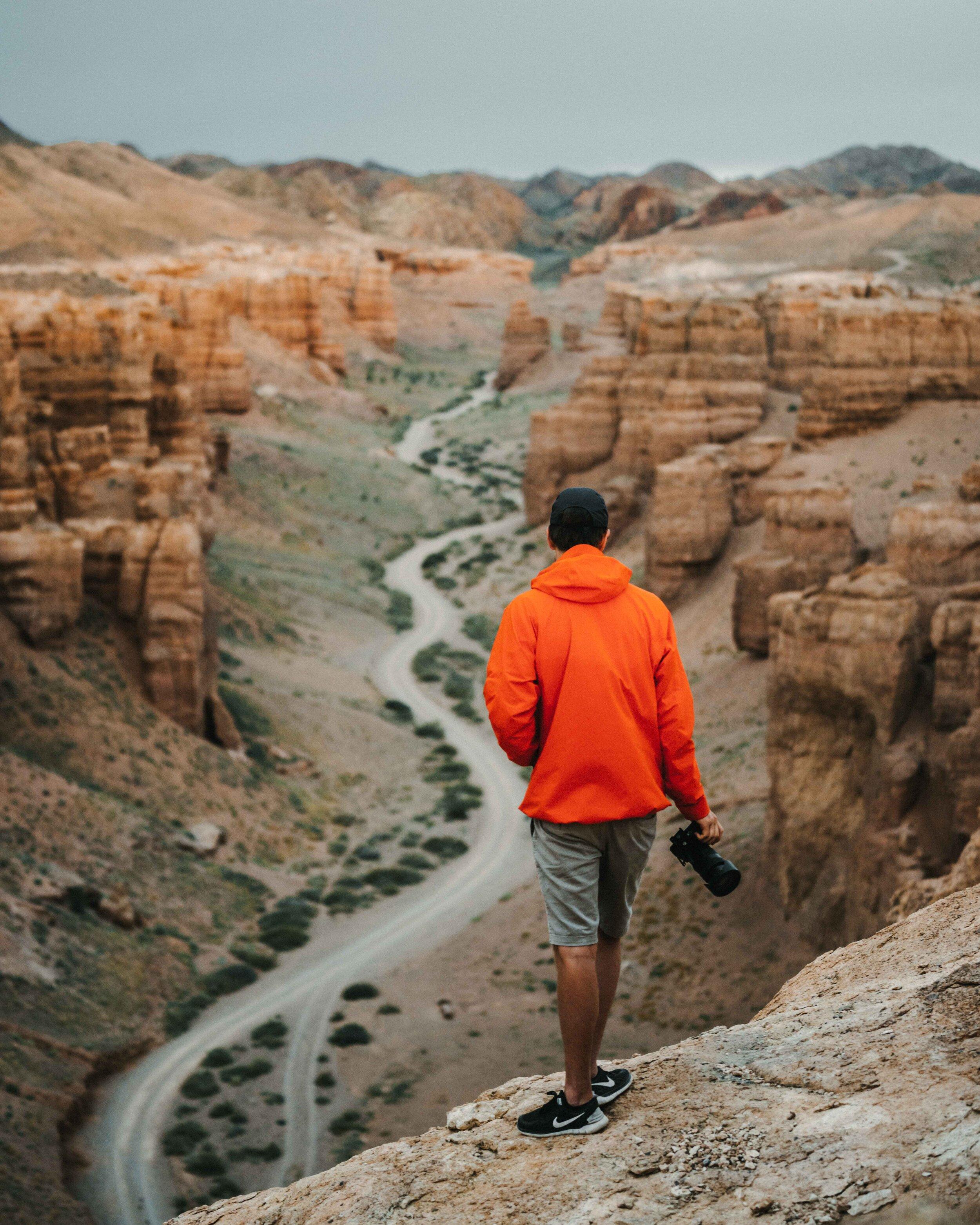 Rami  enjoying the incredible views over the canyon.