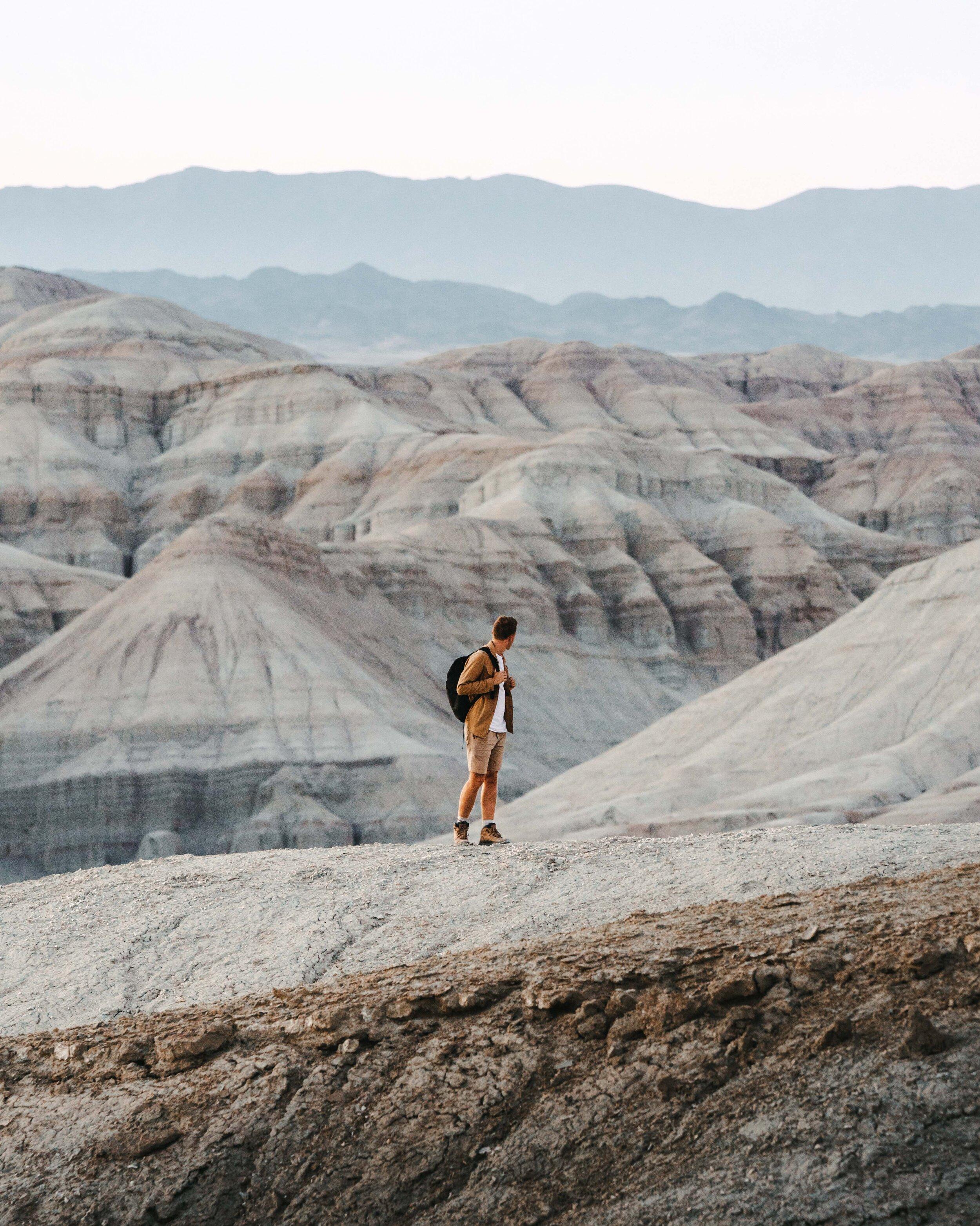 It's me! Enjoying the sensational views of Kazakhstan.