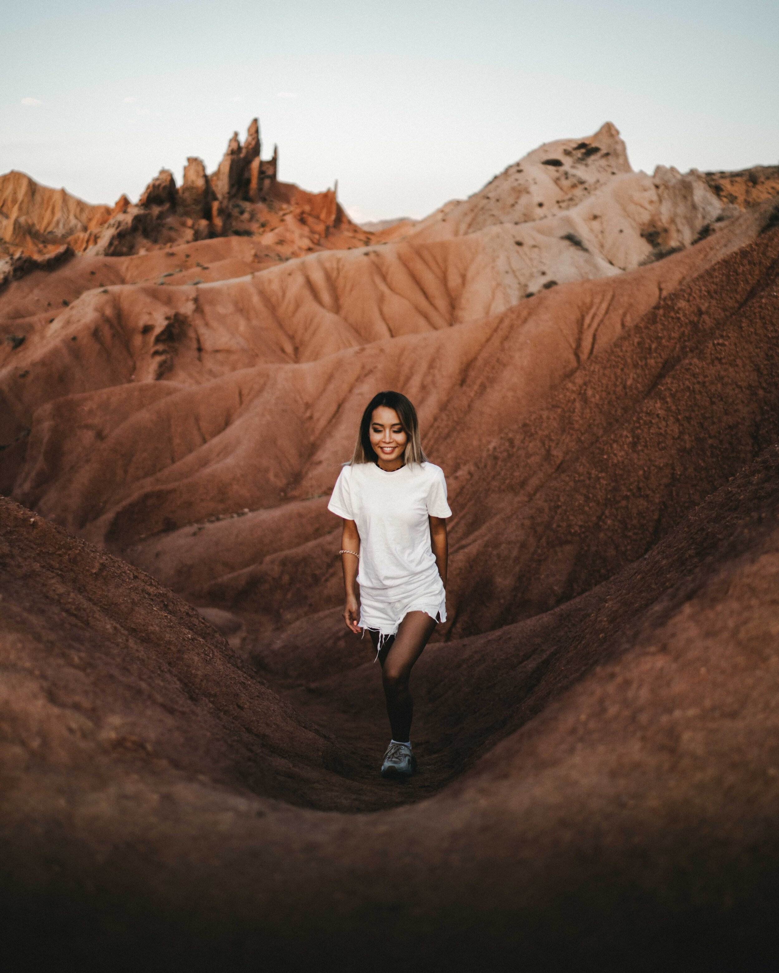 Emily  hiking around Fairytale canyon.