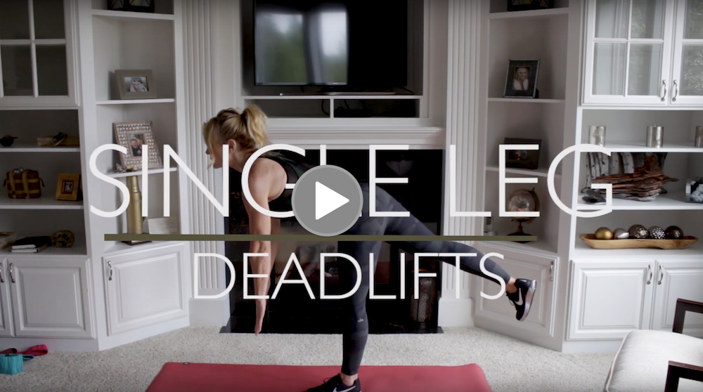 3. Single leg dead-lift with or without band: 10x each side -