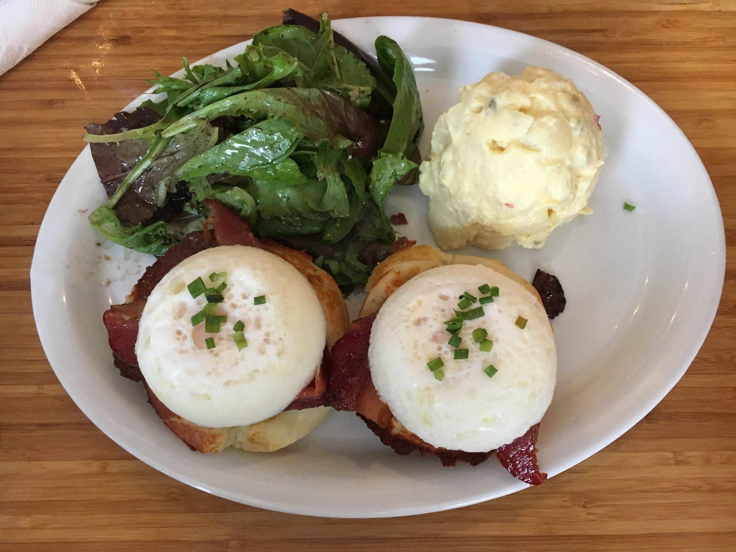 Jian's pick: Breakfast Waffles & Potato Salad