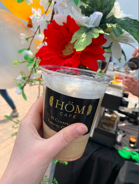 Iced Lavender Latte from Hom Cafe