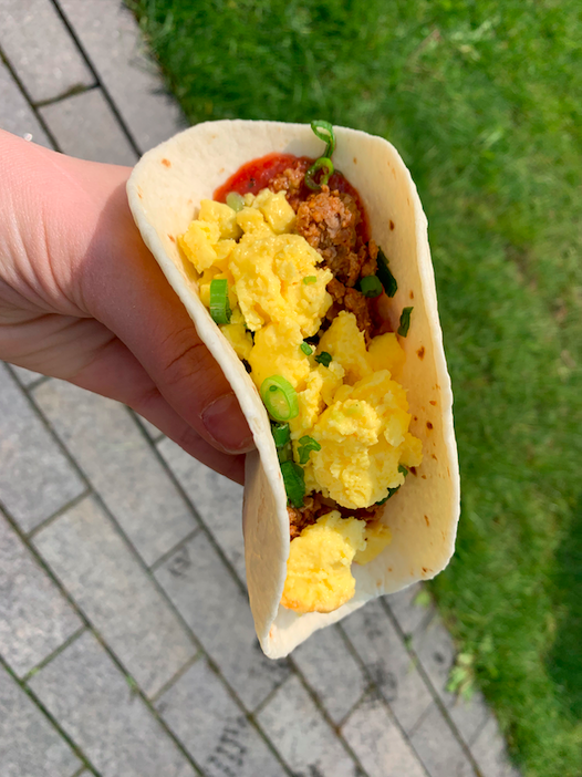 Brunch Taco from The Porch