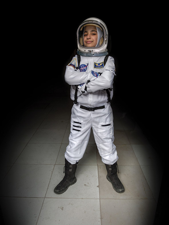 Haja, aged 12. Vision: future astronaut.