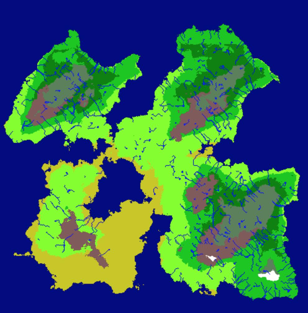 Random World Generation with Fractal Terrain