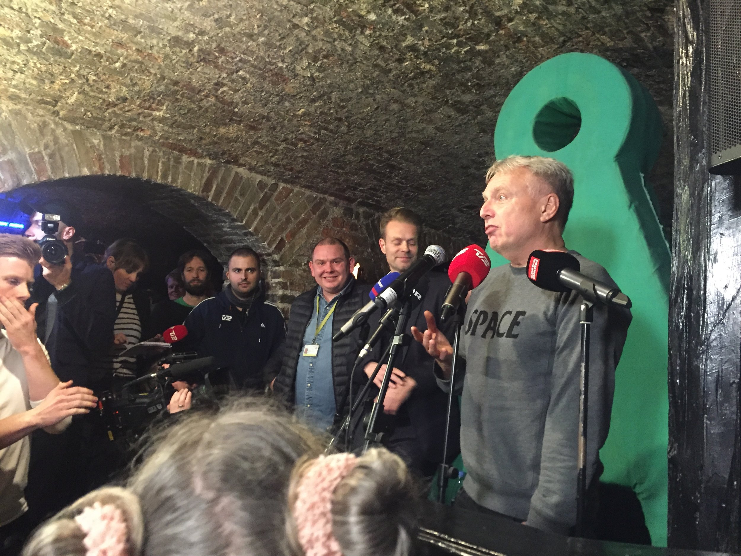 """The very proud political leader gives a short speech at the """"infamous"""" election party"""