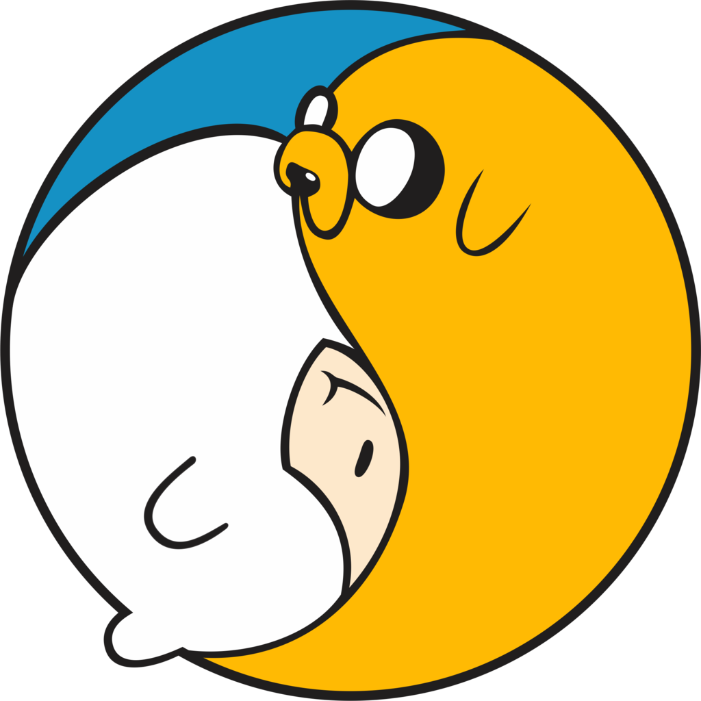 Yin Yang by Oiaeuai on DeviantArt looks at Finn and Jake from Adventure time in a new way