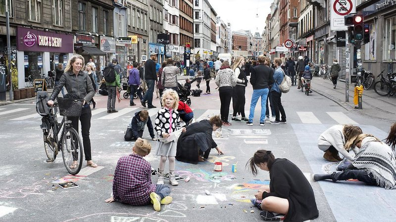 Car-free Sunday in Copenhagen