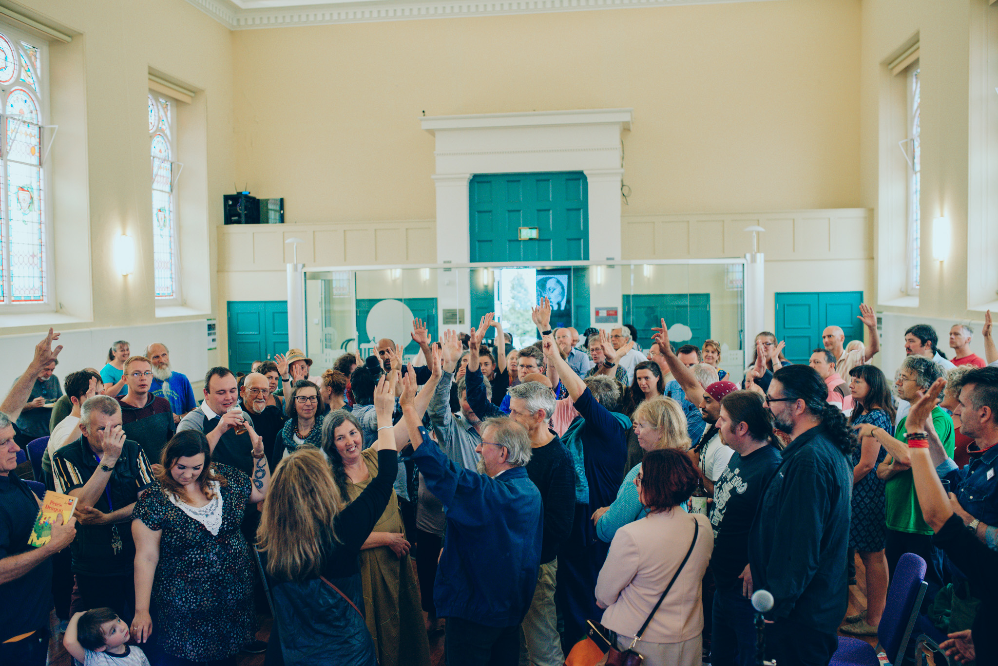 Hands aloft at Devonport Guildhall. All photos by  Dom Moore .