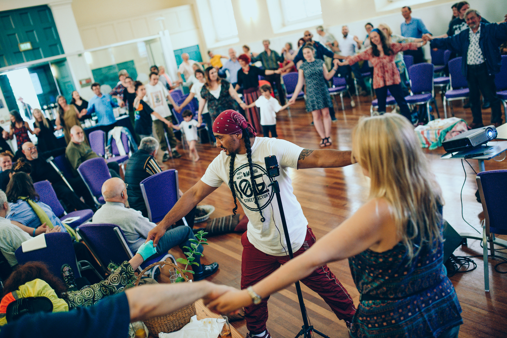 Collective dance session at our    South Devon Friendly event   . Photo by    Dom Moore   .