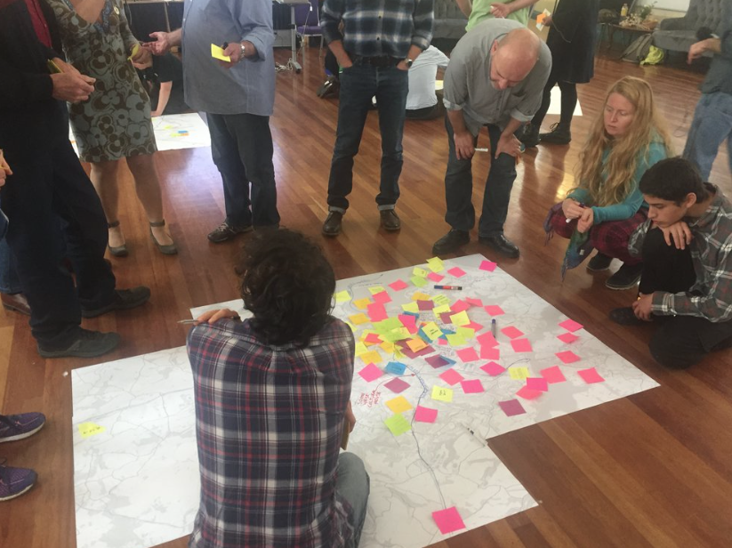 South Devon / Plymouth citizens mapping in  The Inquiry  this past October
