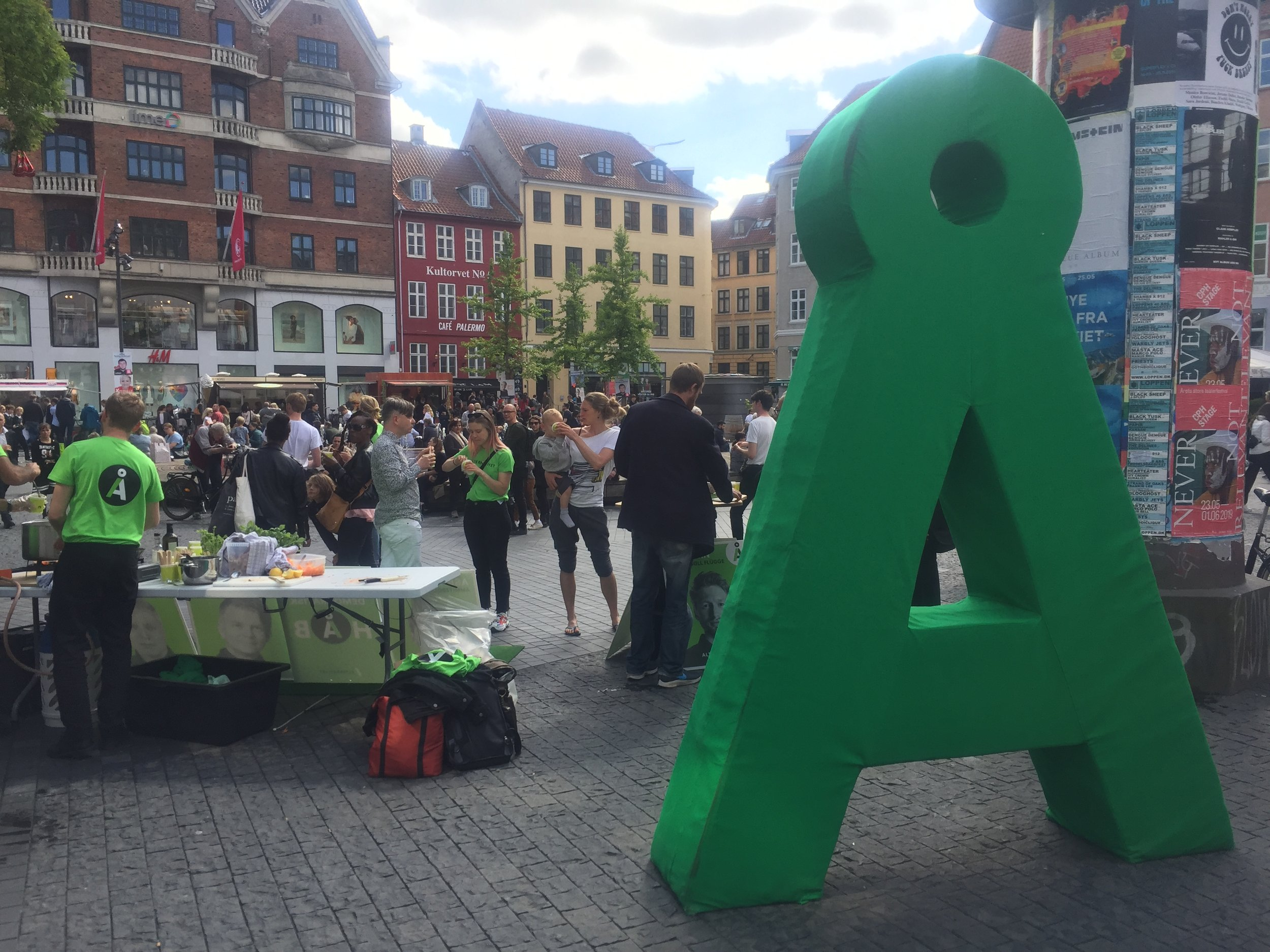 Å at Kultorvet in Copenhagen