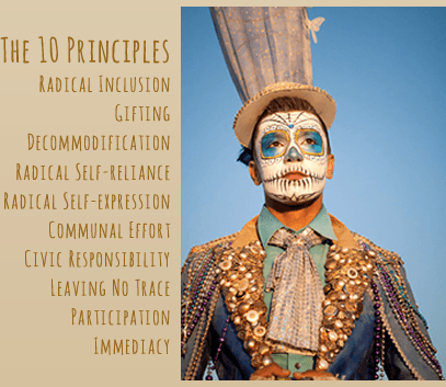 The principles of Burning Man Festival