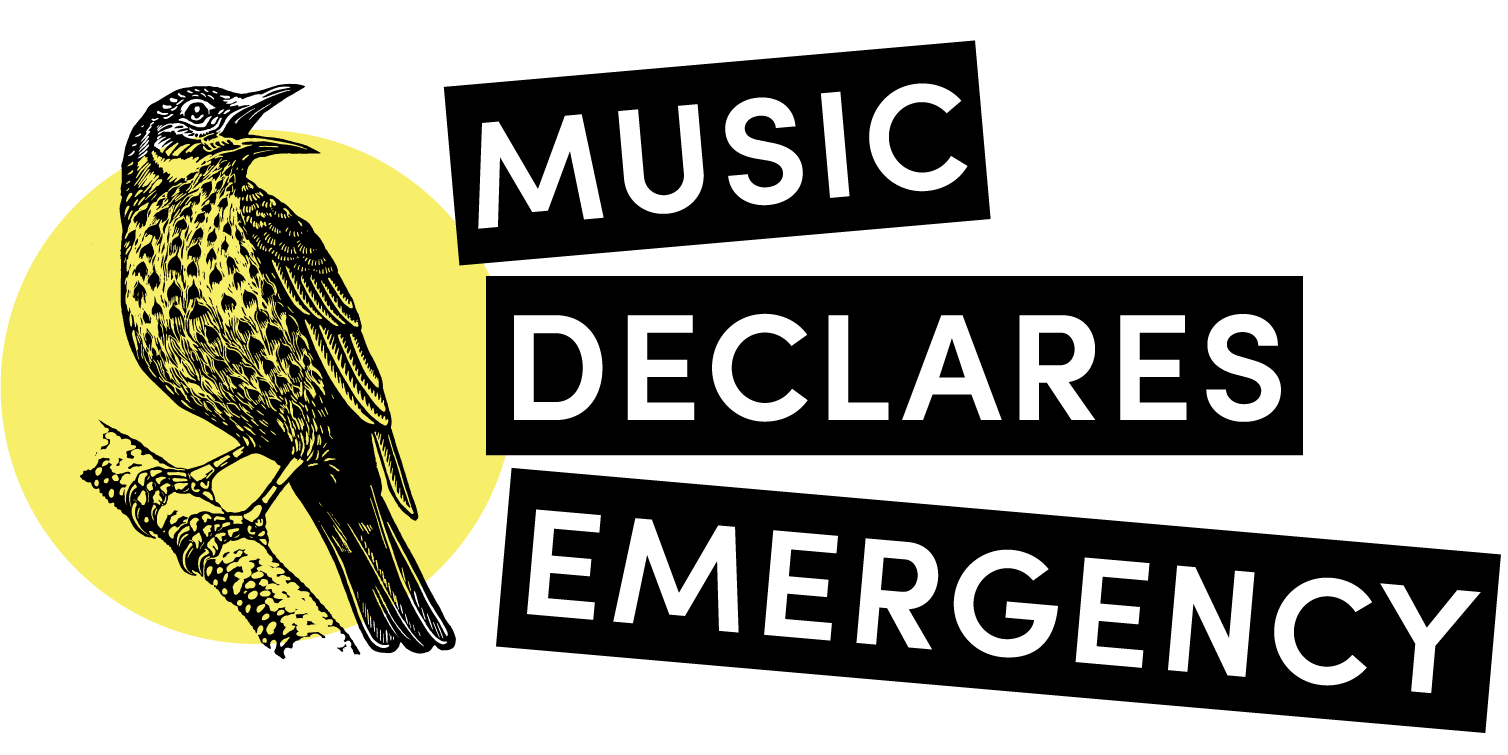Logo from  Music Declares Emergency