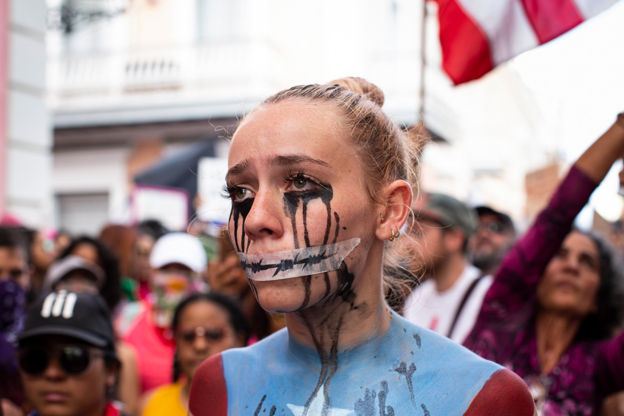 Face painting in protests.