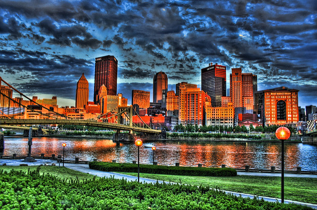 A city that uses City of Champions: Pittsburgh.Flickr/AhrJay