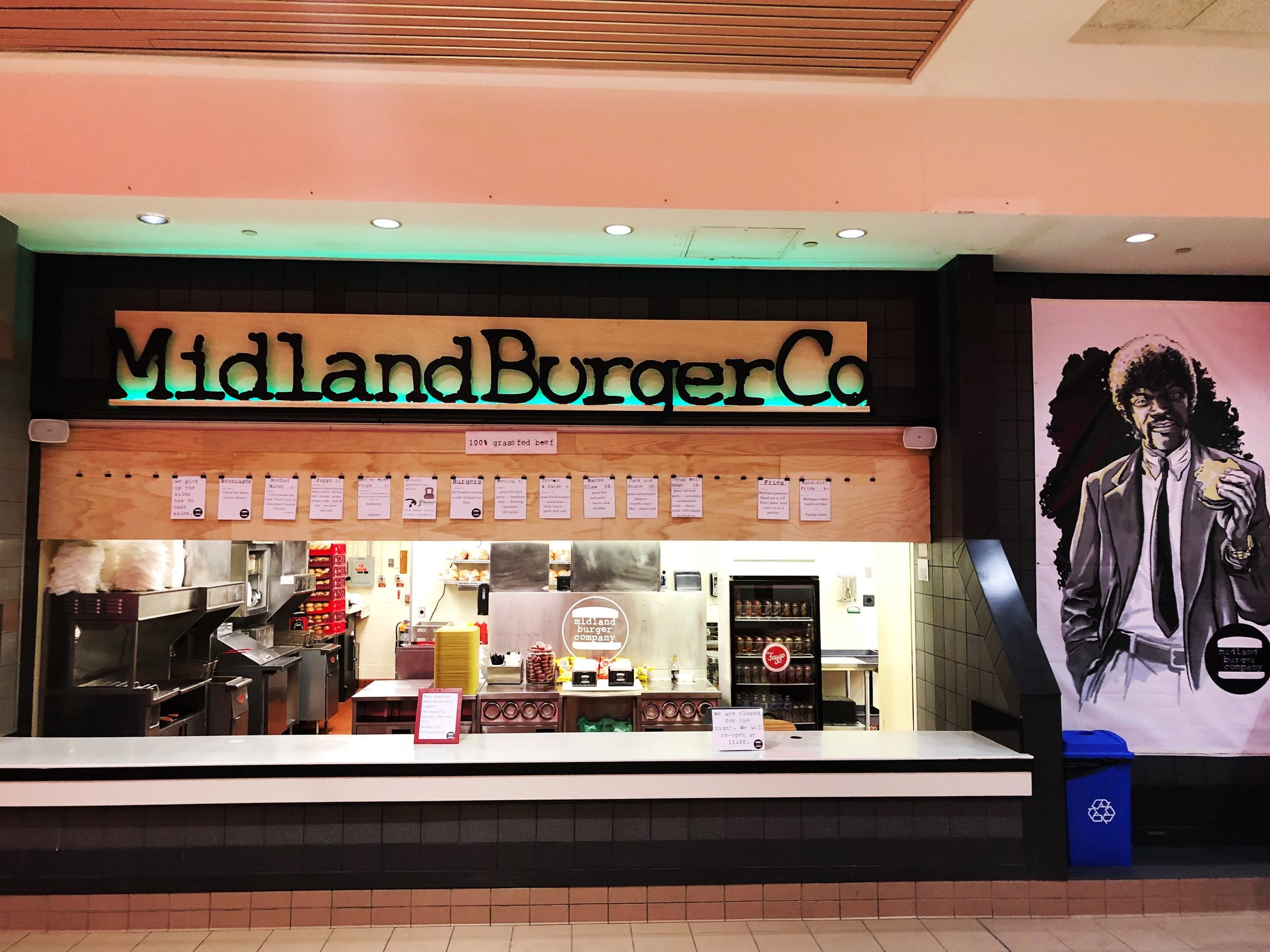 Located in the Midland Mall Food Court