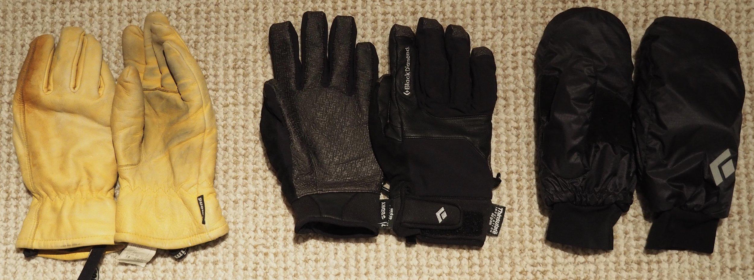 Simond Work Gloves, Black Diamond Arc Gloves, Black Diamond Stance Mitts