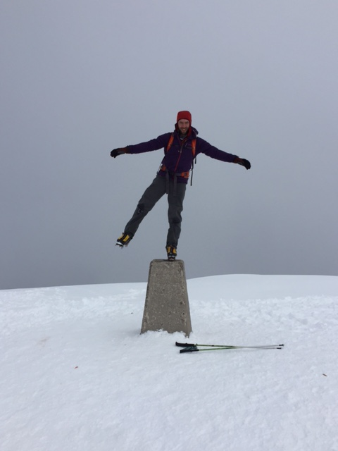 2nd Gen Sythetic means that you don't even need a waterproof on the good days - summit of Ben Nevis in Feb