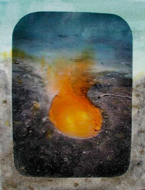 New Zealand 22: Wai-O-Tapu: Antimony Seep