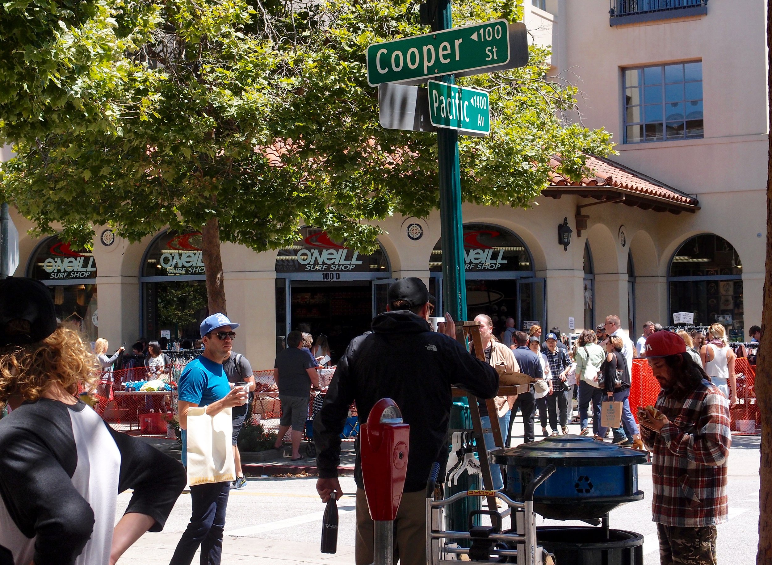 A busy holiday weekend in downtown Santa Cruz.