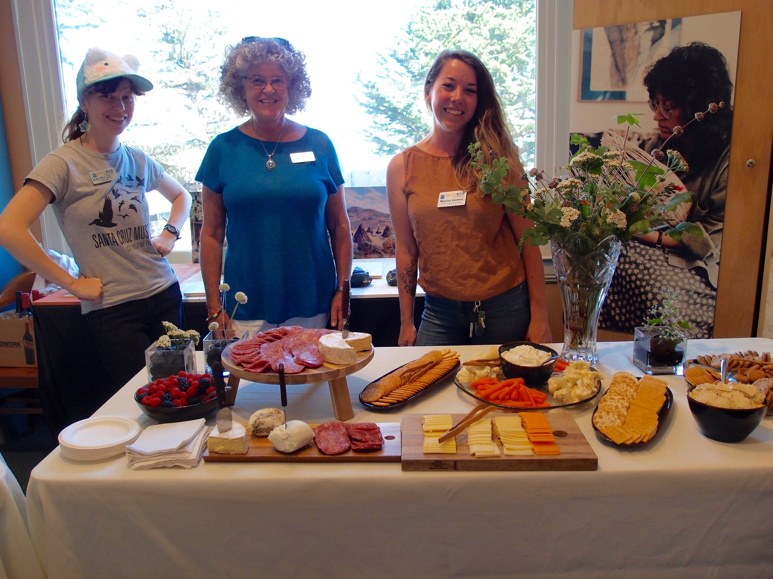 Volunteers Natalie, Alice and Marisa did a wonderful job and served a gorgeous spread and fine wines.