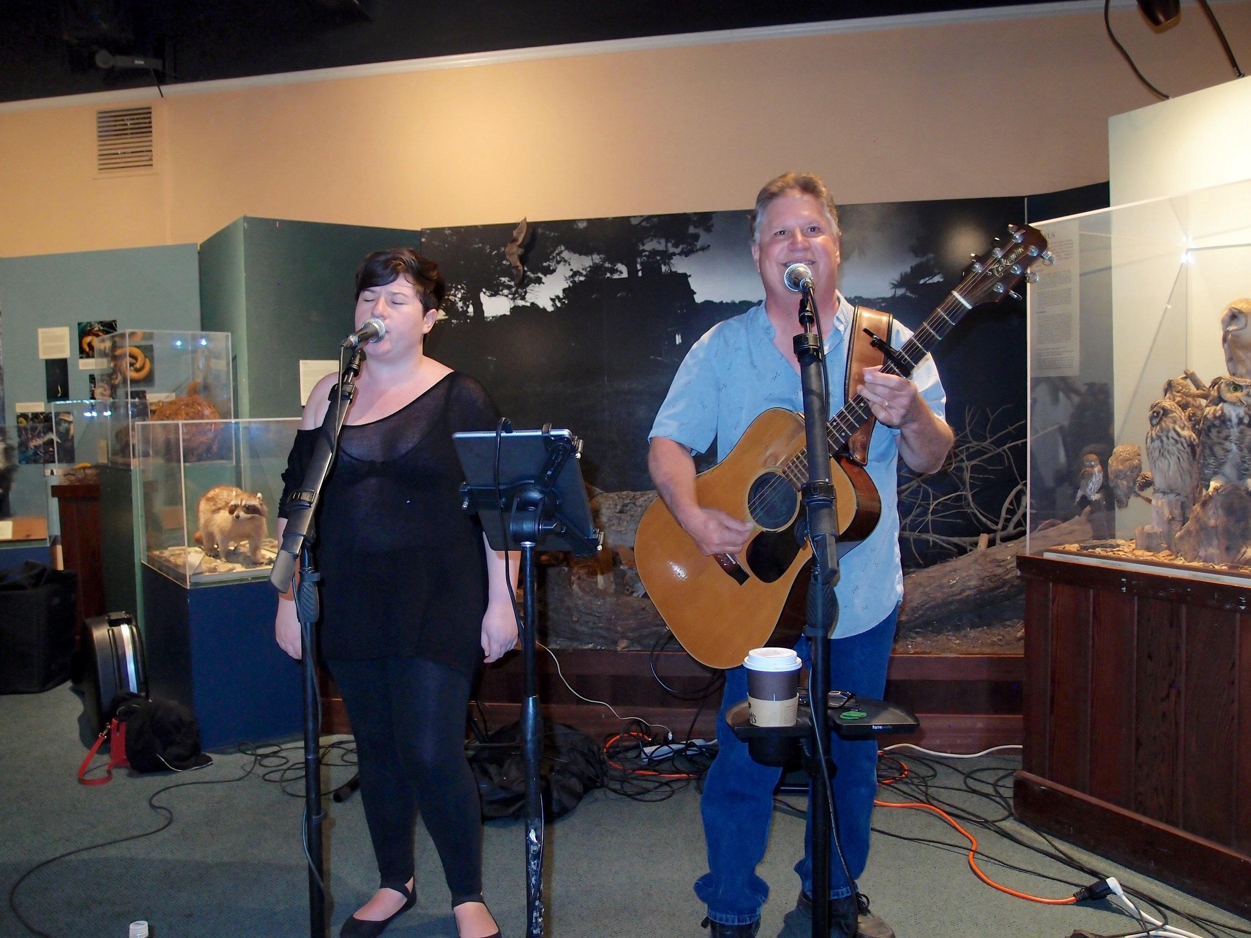 Steve Bennett and daughter April, together  Wild & Blue , riveted their audience with a soulful and heartfelt performance.
