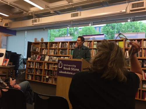 From the University Bookstore reading, Seattle, July 21, 2017
