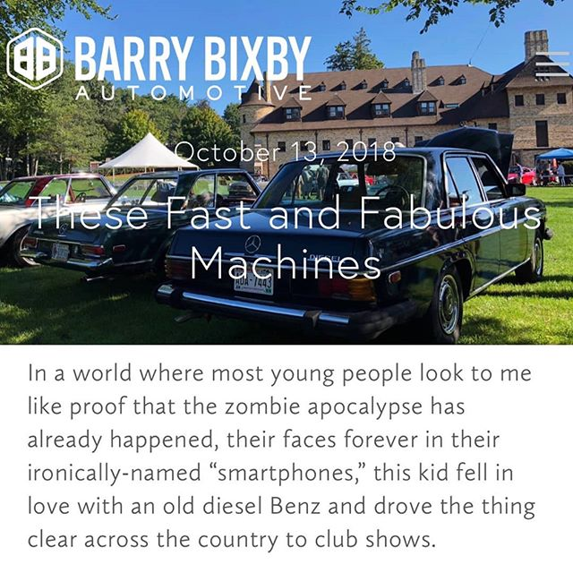 New blog post is up!  Car collecting is often—and accurately—viewed as elitist. These fast and fabulous machines humans make cost money, and collecting requires quite a bit of it... https://www.barrybixbyautomotive.com/blog/thesefastandfabulousmachines