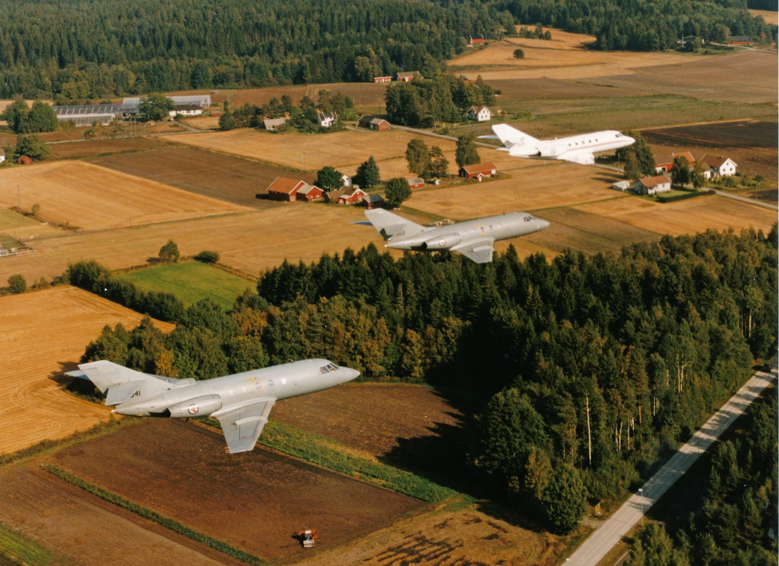 DA20 Falcon                                                                                                       Foto Torgeir Vognild, Rygge hovedflystasjon