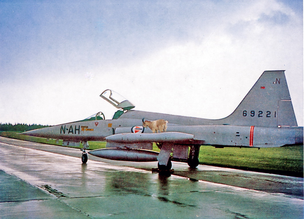F-5A 66-9221 AH-N med skvadronsmaskotten Mats                                                                                     Foto 332skvadrons julekort