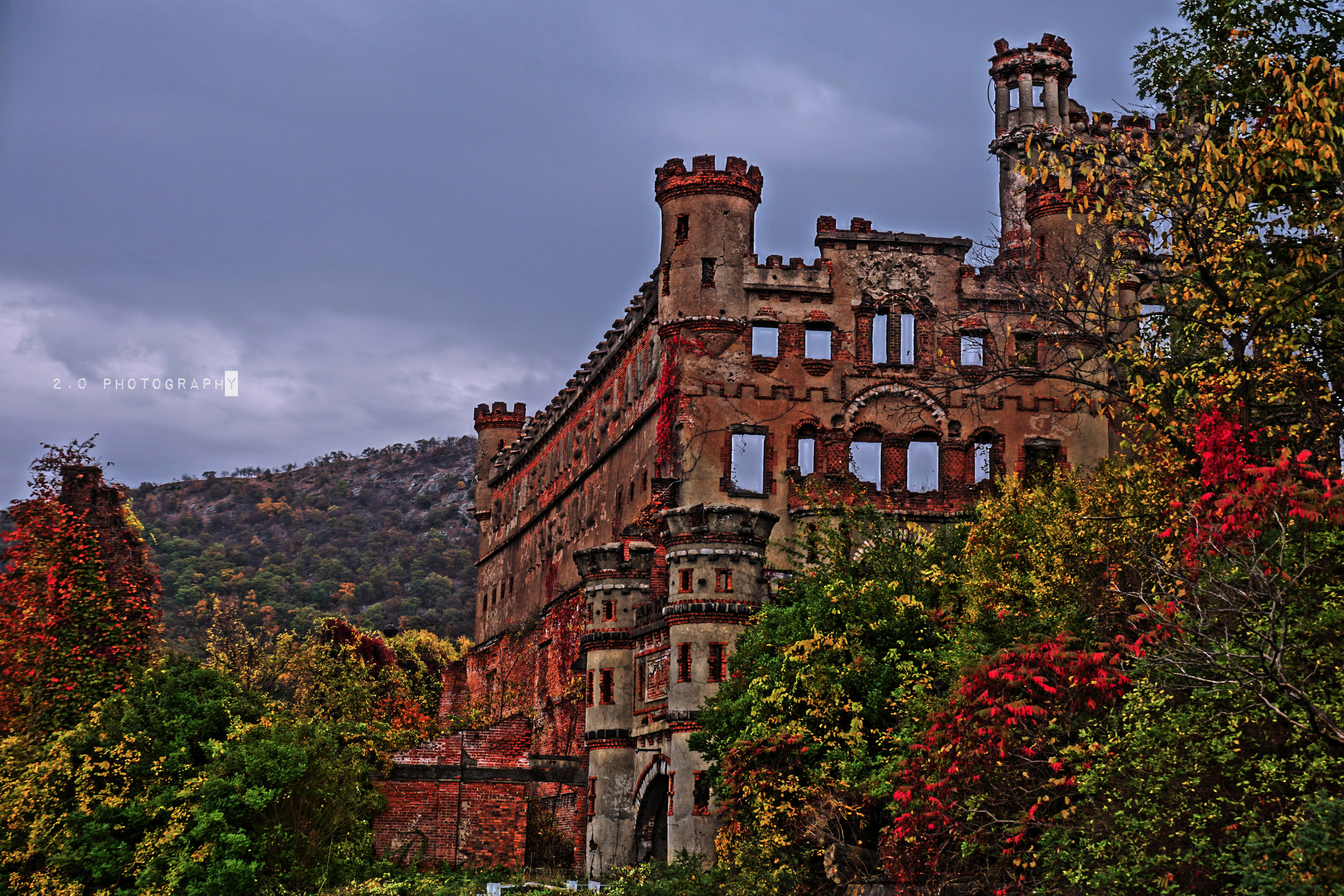 Bannerman Castle - Scottish immigrant Francis Bannerman VI owned and operated a military surplus store located in New York City. When he eventually required more space for his expanding collection, he purchased Pollepel Island (an island in the Hudson River about 50 miles north of New York City) in 1900. In 1901, he began to build a residence and a castle-like storage facility known as Bannerman Castle for his growing business. In 1920, about two years after Bannerman's death, 200 tons of shells and gunpowder exploded in an ancillary structure, destroying part of the storage complex. In 1950, the property was abandoned. Pollepel Island was eventually purchased by the state of New York in 1967.Today, Pollepel Island and its buildings are being preserved. Some parts are even being restored with the help of tours given by The Bannerman Castle Trust Inc., a non-profit dedicated to preserving Bannerman Castle.https://en.wikipedia.org/wiki/Pollepel_Island#Bannerman.27s_Castlehttp://www.bannermancastle.org/index.html