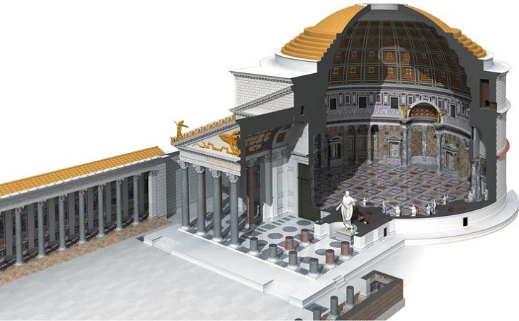 Pantheon Cross-section