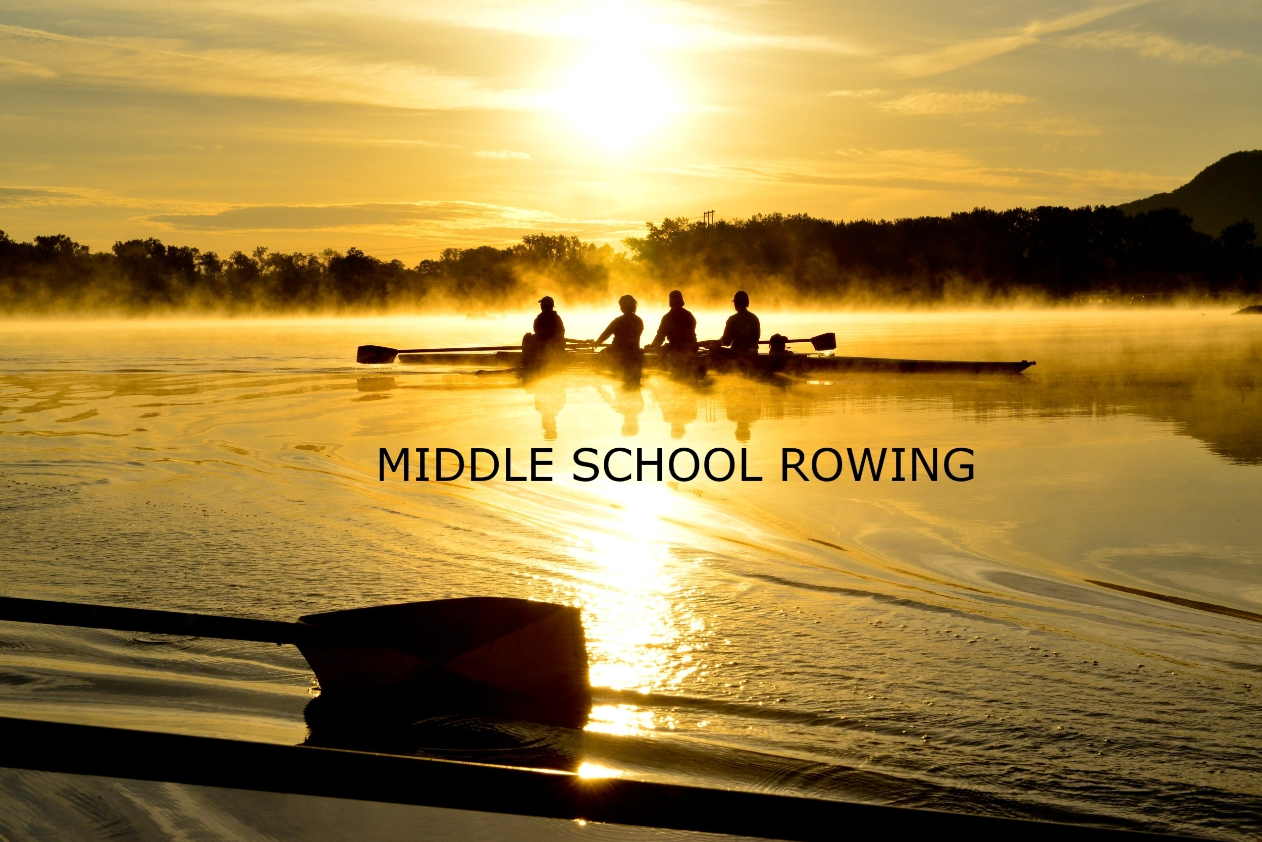 This program is for any middle school student in grades 7 or 8 who is interested in learning how to row in sculling shells. a sculling boat is a boat with 2 oars. A sweep rowing shell is when each rower has one oar. We believe that younger bodies benefit from learning how to row with two oars in smaller boats. It teaches a more skilled approach to the sport of rowing before jumping into a sweep rowing shell with only one oar.  Middle School rowers practice at the same time of day as the high school crews but for only 3 days/week as opposed to 5. Some competitive opportunities may or may not be available depending on the participants and the coaches discretion. For more information on the programs offered seasonally please click on one of the following links. Spring, Summer, Fall, Winter.