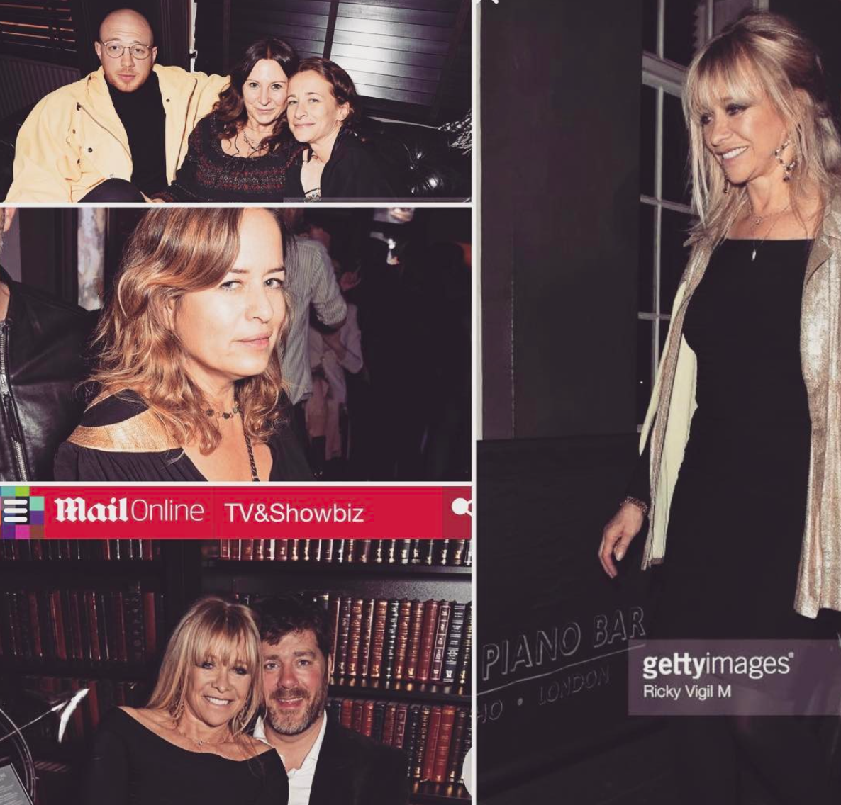 Jade Jagger and Jo Wood visit for Fran Cutler's Keep Live Music Alive in Soho Campaign 06/04/17